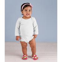 Infant Baby Rib Lap-Shoulder Long-Sleeve Bodysuit