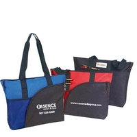 Poly Deluxe Zipper Tote Bag