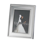 Wedgewood/Waterford Grosgrain Silver 5x7 Frame
