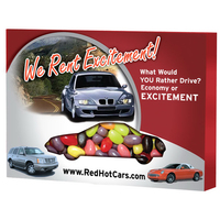 Custom Window Box Car filled with Jelly Beans Candy
