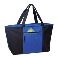 Poly Jumbo Zipper Tote Bag