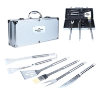 5 Piece Executive Stainless Barbecue Tool Set