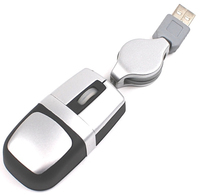 3D super mini optical USB mouse with retractable