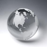 """Award-Clear Globe (Flat Bottom) 4 3/8"""""""