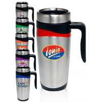 16 oz. Stainless Steel Double Wall Mugs
