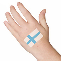 Finland Flag Temporary Tattoo