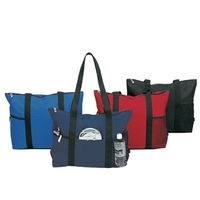 Poly Deluxe Zipper Travel Tote Bag