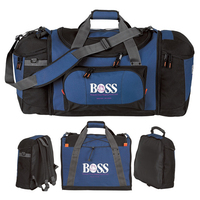 Large 3 in 1 Two-Tone Colored Sport Bag