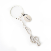 Metal Music Note Key Tag