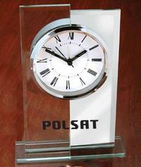 Two Tone Desktop Glass Alarm Clock
