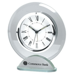Round Desktop Glass Alarm Clock