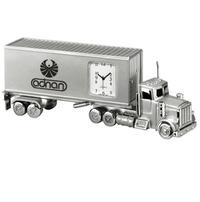 Metal Container Truck Clock