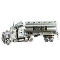 Metal Oil Tanker Truck Clock