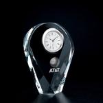 Crystal Drop Award Clock