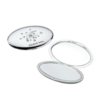 Silver Oval Jewelry Compact Mirror