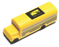 School Bus Shape Stress Reliever