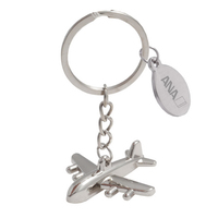 Metal Airplane Key Tag