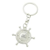 Metal Mini Nautical Wheel Key Tag