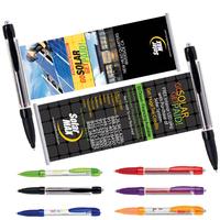 Banner Pen Plastic Click Action Ballpoint Pen