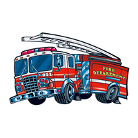 Fire Engine Temporary Tattoo