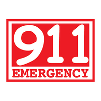 Glow Red Emergency 911 Temporary Tattoo