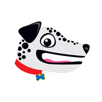 Dalmatian Hand Puppet Temporary Tattoo