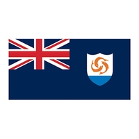 Anguilla Flag Temporary Tattoo