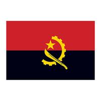 Angola Flag Temporary Tattoo