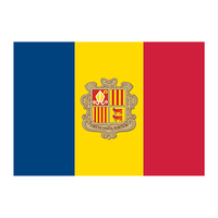 Andorra Flag Temporary Tattoo