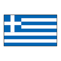 Greece Flag Temporary Tattoo
