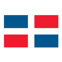 Dominican Republic Flag Temporary Tattoo