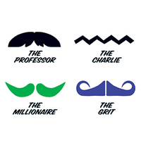 Fingerstaches: The Professor Temporary Tattoo Set
