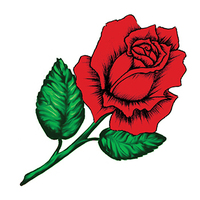 Blooming Rose Temporary Tattoo