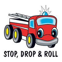 Stop Drop & Roll Temporary Tattoo