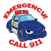 Emergency 911 Temporary Tattoo