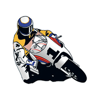Racing Motorcycle Temporary Tattoo