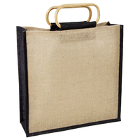 Jute Bag with Bamboo Handle