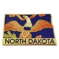 State - North Dakota State Shape Lapel Pin