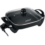 Brentwood 12 Inch Electric Skillet with Glass Lid; Non-Stick