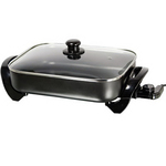 Brentwood 16 Inch Electric Skillet with Glass Lid; Non-Stick