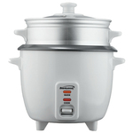 Brentwood Rice Cooker (15 Cup) with Steamer - White