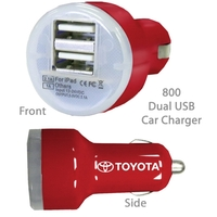 Superior USB Dual Port Car Chargers E800 RED