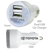 Superior USB Dual Port Car Chargers E800 WHITE