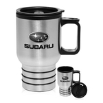16 oz. Printed Stainless Steel Travel Mug with Handle