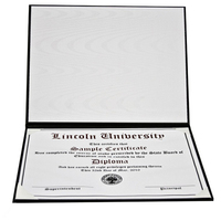 Padded Deluxe Certificate Covers 8-1/2 x 11""