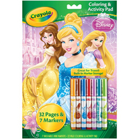 Crayola Disney Princess Coloring Activity Book With Marker