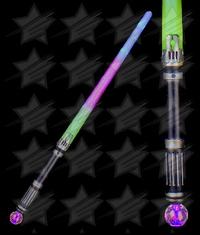 LED 25 Inch Rainbow Crystal Ball Sword
