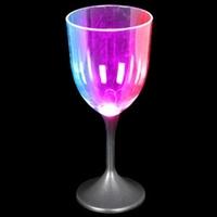 LED Wine Glass Black Stem - 10 oz.