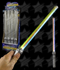 LED 18 Inch Silver Handle Wand - Multicolor