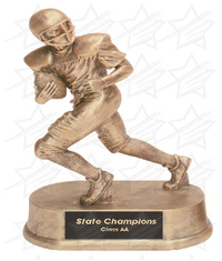 7 3/4 inch Antique Gold Football Resin